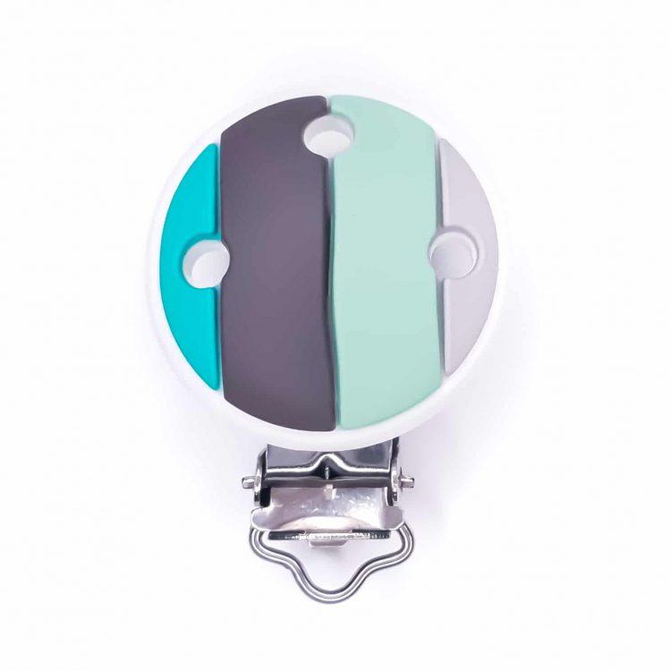 Speenclip regenboog siliconen speenkoord groothandel bpa vrij turquoise mint
