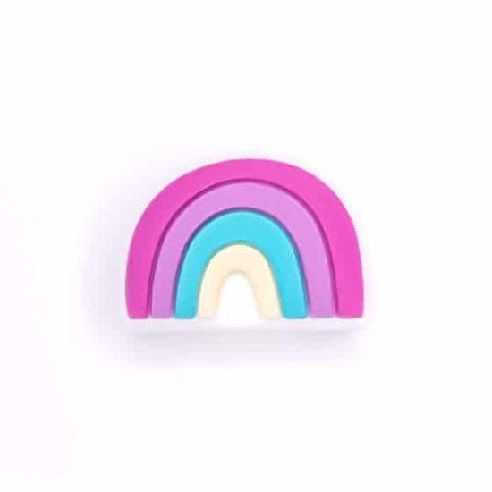 Regenboog kraal speenkoord groothandel bpa vrij magenta