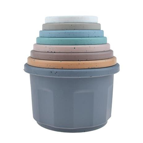 Siliconen stapeltorens stacking cups stapel bekers bpa vrij magic cupcake