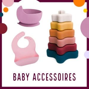 Baby accessoires groothandel veilig stapeltoren bibs speen