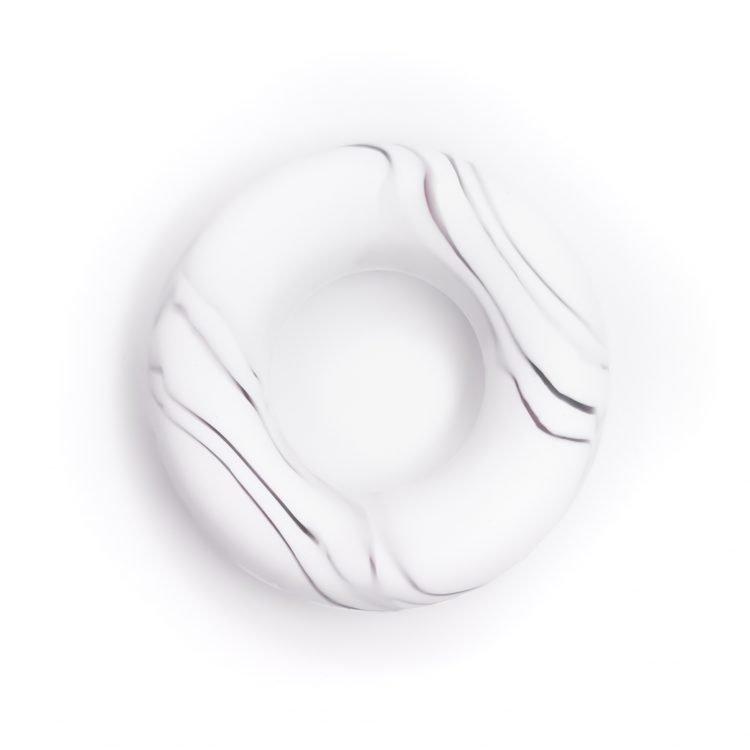 Siliconen ring bijtspeelgoed 43 mm bpa vrij groothandel marmer zwart wit