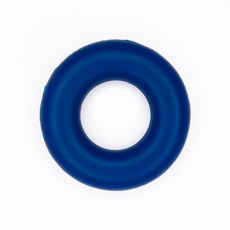 Siliconen ring bijtspeelgoed 43 mm bpa vrij groothandel metallic navy blauw
