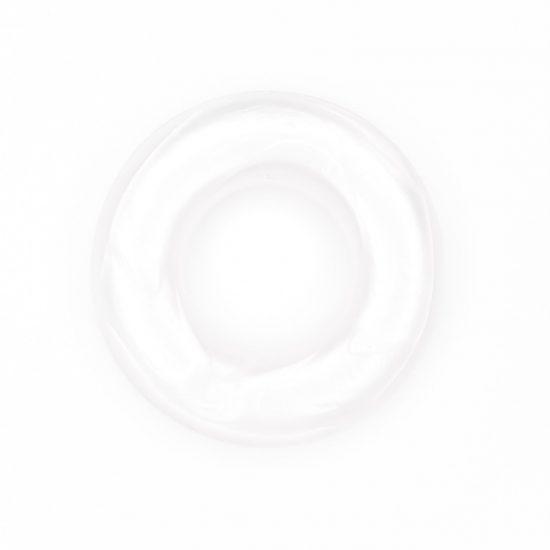 Siliconen ring bijtspeelgoed 43 mm bpa vrij groothandel metallic parel wit