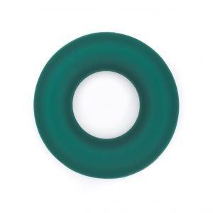 Siliconen ring bijtspeelgoed 43 mm bpa vrij groothandel smaragd groen