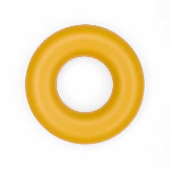 Siliconen ring groothandel bijtring bpa vrij oker geel