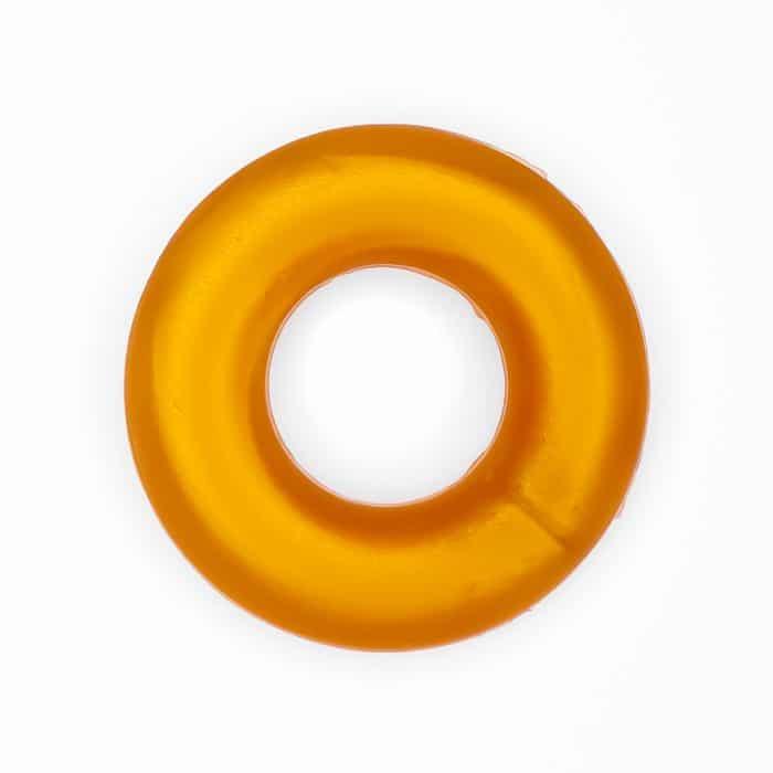 Siliconen ring groothandel bijtring bpa vrij metallic goud bruin
