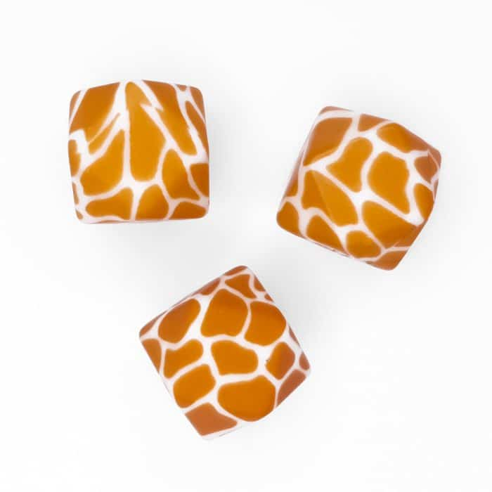 Giraffe BPA vrij print groothandel siliconen kralen