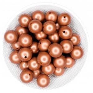 Groothandel siliconen kralen copper nugget