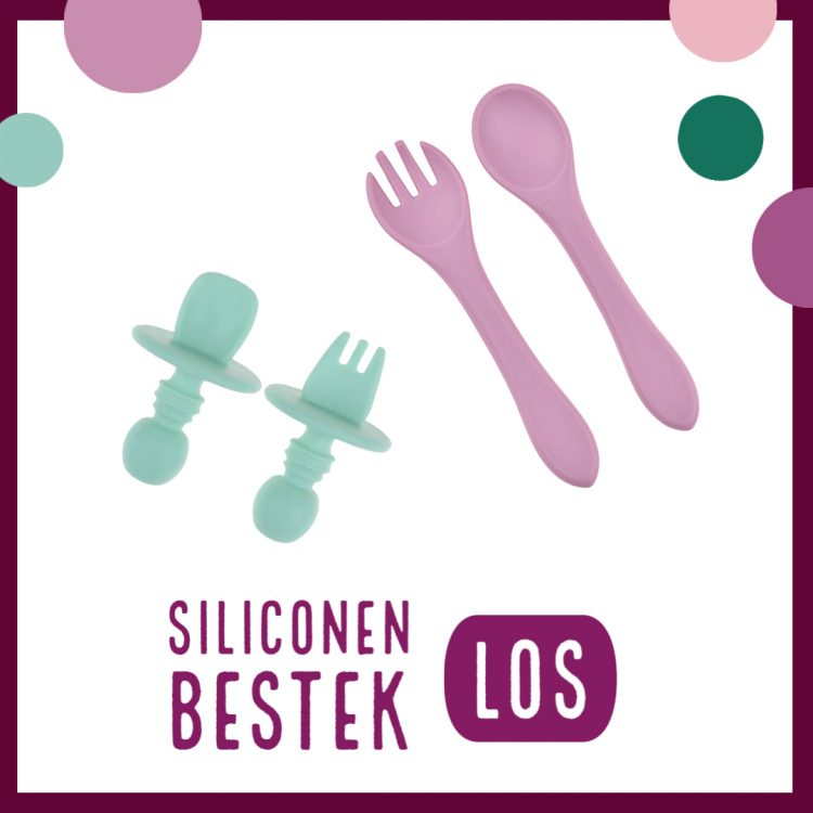 Siliconen Bestek - Los - Kinderservies