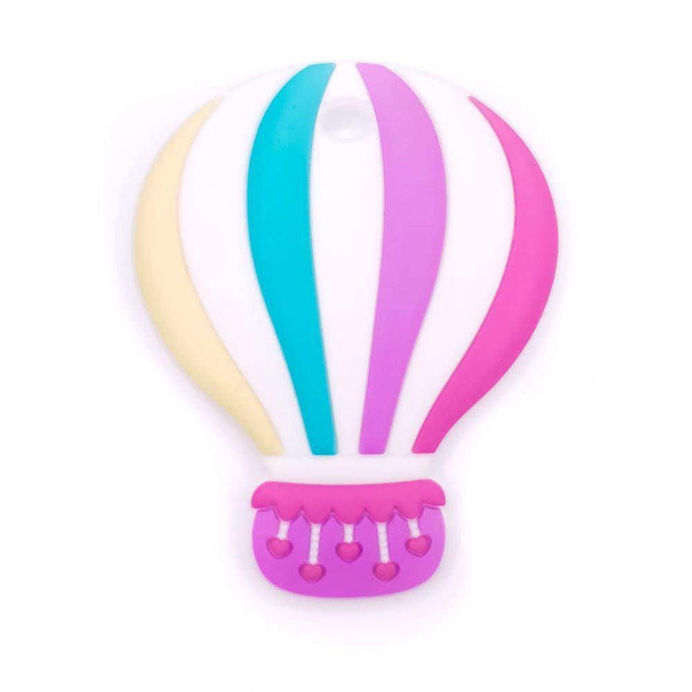 Siliconen bijtfiguur luchtballon magenta bpa vrij groothandel regenboog