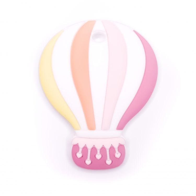 Siliconen bijtfiguur luchtballon framboos roze bpa vrij groothandel regenboog