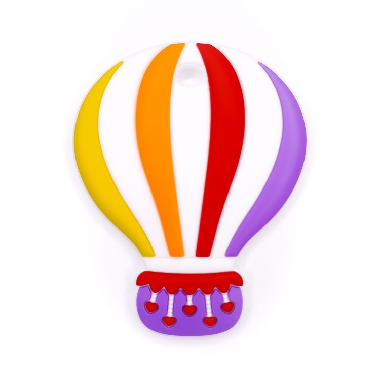 Siliconen bijtfiguur luchtballon grape cassis bpa vrij groothandel regenboog