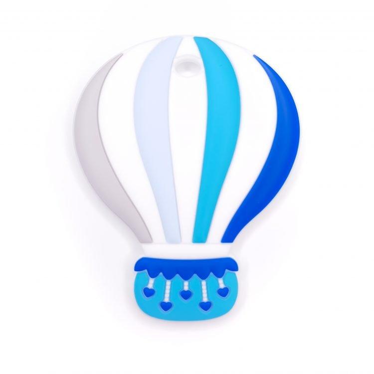 Siliconen bijtfiguur bijtspeeltje luchtballon koningsblauw bpa vrij groothandel regenboog