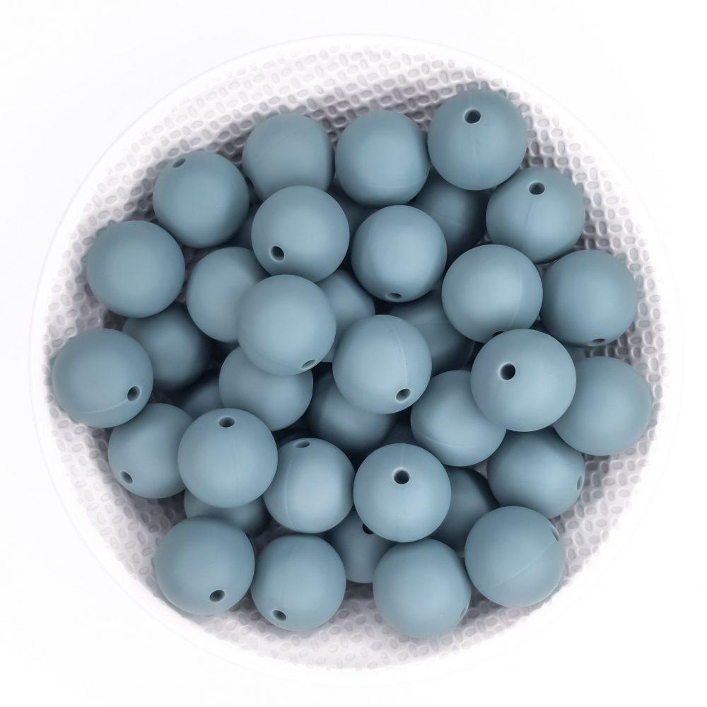 Siliconen kralen bpa vrij groothandel speenkoord bijtring oceaan grijs oud blauw vergrijsd blauw