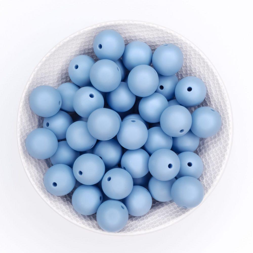Siliconen kralen middel poeder blauw bpa vrij groothandel speenkoord bijtring