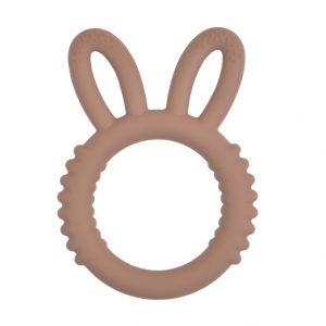 Siliconen bijtspeeltje bijtspeelgoed groothandel bpa vrij fluffy bunny milk chocolate