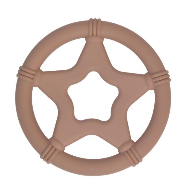 Siliconen bijtspeeltje bijtspeelgoed groothandel bpa vrij twinkle star milk chocolate