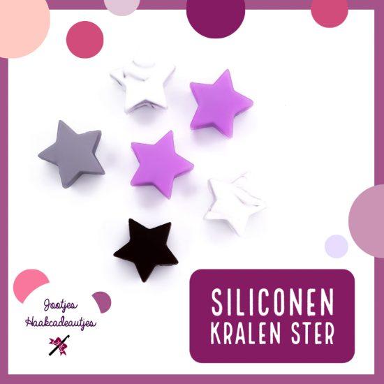 Siliconen Kralen - Ster - 15 mm