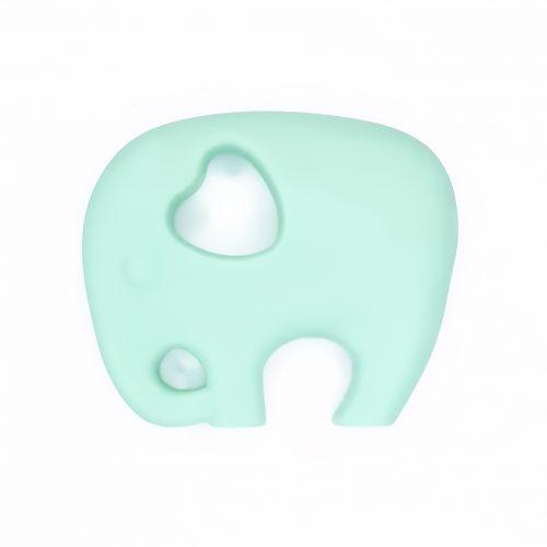 Siliconen bijtfiguur olifant mint groen baby veilig bpa vrij