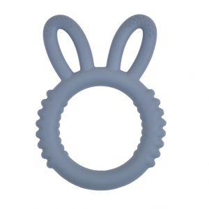 Siliconen bijtfiguur fluffy bunny donker grijs bpa vrij groothandel