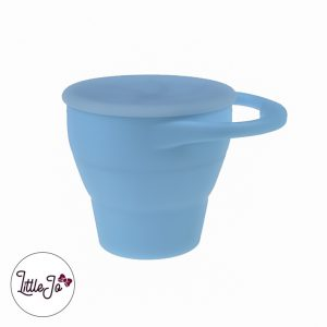 Silicone Snack Cups LittleJo BPA vrij Groothandel Wholesale Poeder Blauw