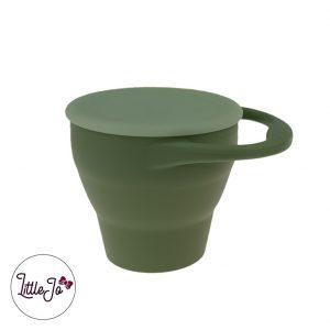 Silicone Snack Cups LittleJo BPA vrij Groothandel Wholesale Mos Groen