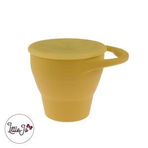 Silicone Snack Cups LittleJo BPA vrij Groothandel Wholesale Oker Geel