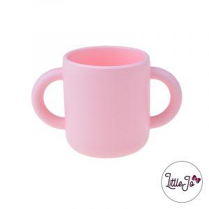 Siliconen drinkbeker mok Groothandel BPA vrij kinderservies Perzik Roze