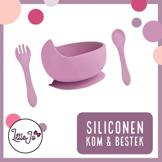Siliconen Kom & Bestek - Kinderservies
