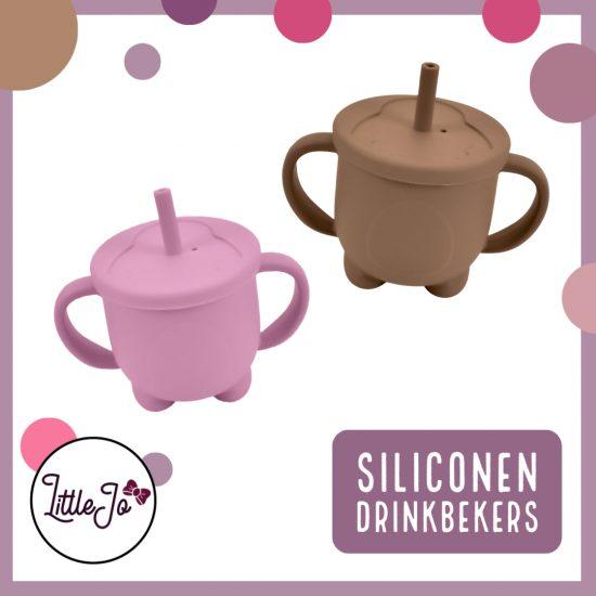 Siliconen drinkbekers / tuitbekers - BPA vrij - LittleJo