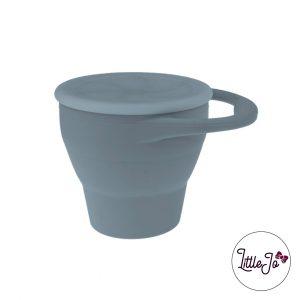 Siliconen Snack Cup LittleJo BPA vrij kleur Donker Grijs baby veilig