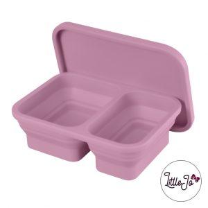 Siliconen lunchbox LittleJo EN 14372 groothandel bpa vrij baby veilig EN-71 framboos