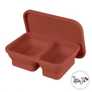 Siliconen lunchbox LittleJo EN 14372 groothandel bpa vrij baby veilig EN-71 henna