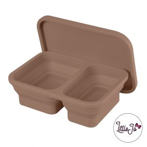 Siliconen lunchbox LittleJo EN 14372 groothandel bpa vrij baby veilig EN-71 milk chocolate