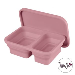 Siliconen lunchbox LittleJo EN 14372 groothandel bpa vrij baby veilig EN-71 rosewood