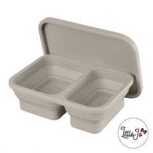 Siliconen lunchbox LittleJo EN 14372 groothandel bpa vrij baby veilig EN-71 taupe