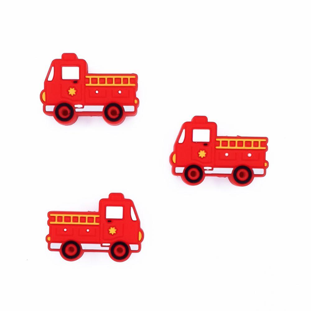 Siliconen kraal brandweerwagen brandweer auto brandweer rood