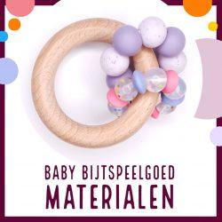 Siliconen kralen bpa vrij baby bijtspeelgoed materialen